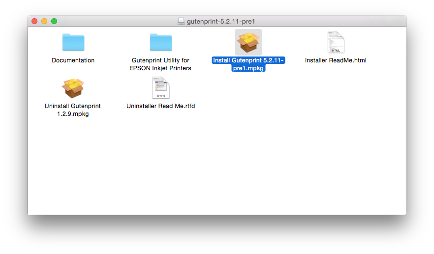 installer une imprimante sur mac gutenprint