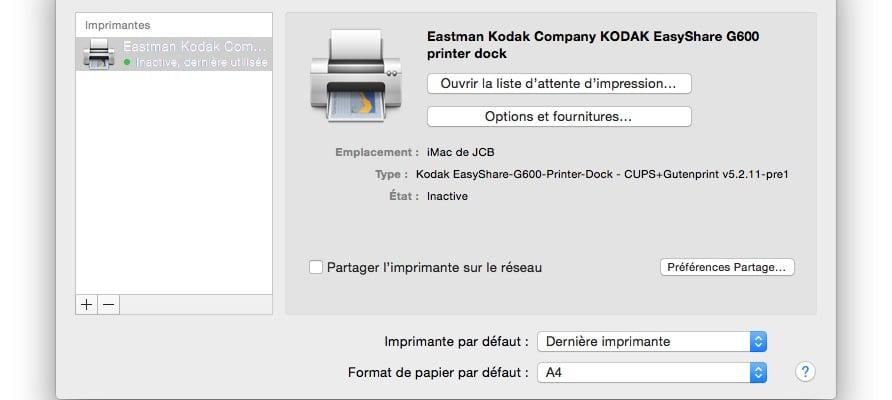 installer une imprimante sur mac rapidement