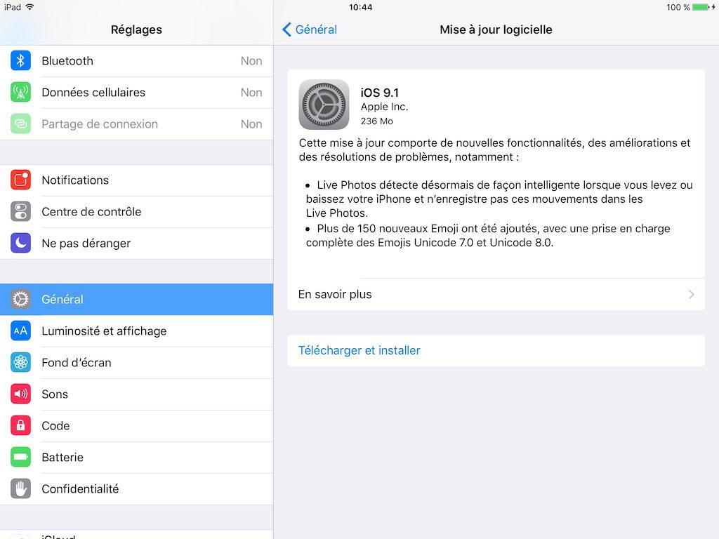 iOS 9.1 iphone ipad
