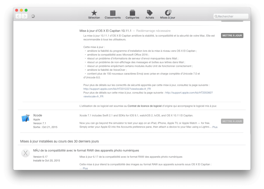 mac os x el capitan 10.11.1