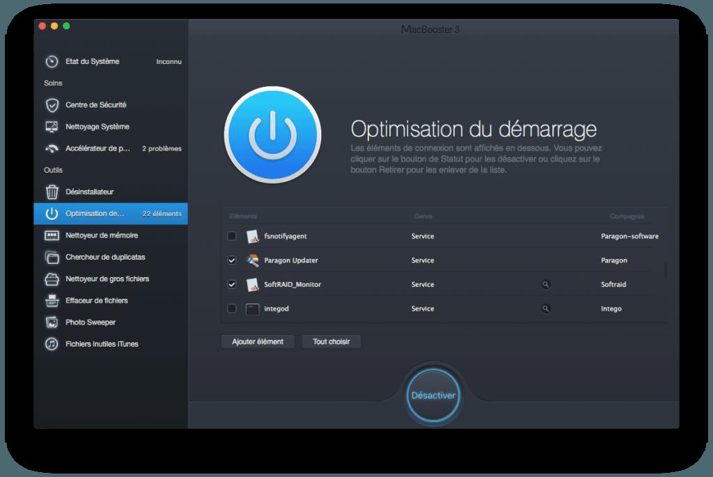 Accelerer El Capitan mac optimisation du demarrage