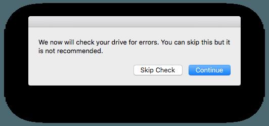 Reparer la partition Recovery Mac verification disque