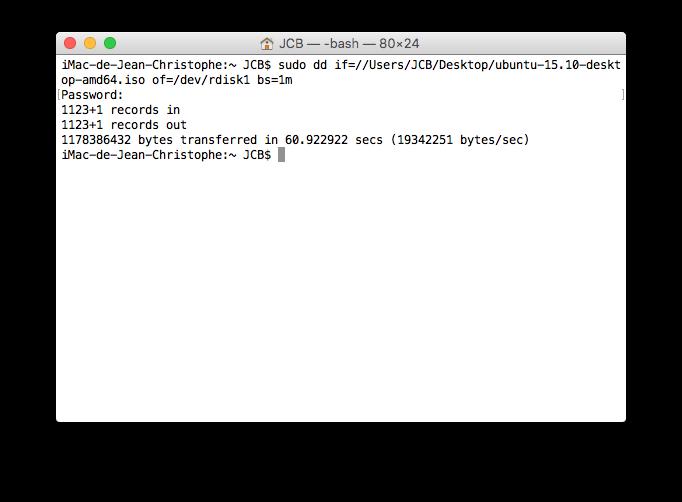 Triple boot El Capitan copier ubuntu sur cle usb