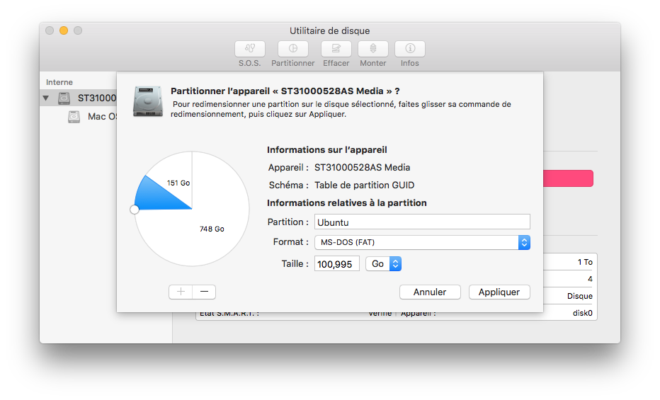 Triple boot El Capitan partition pour ubuntu