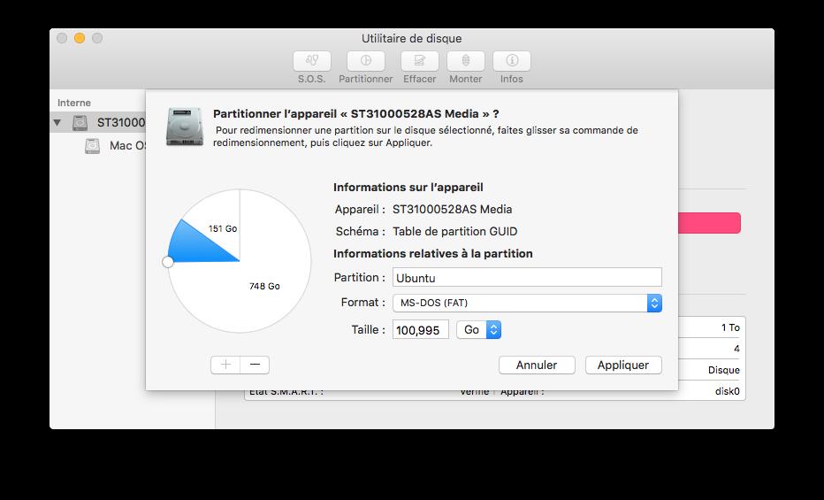 Triple boot El Capitan partition pour ubuntu