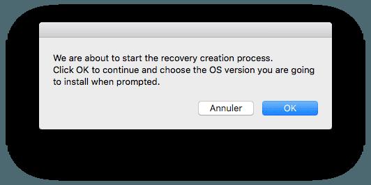 reparer la partition recovery mac en cours