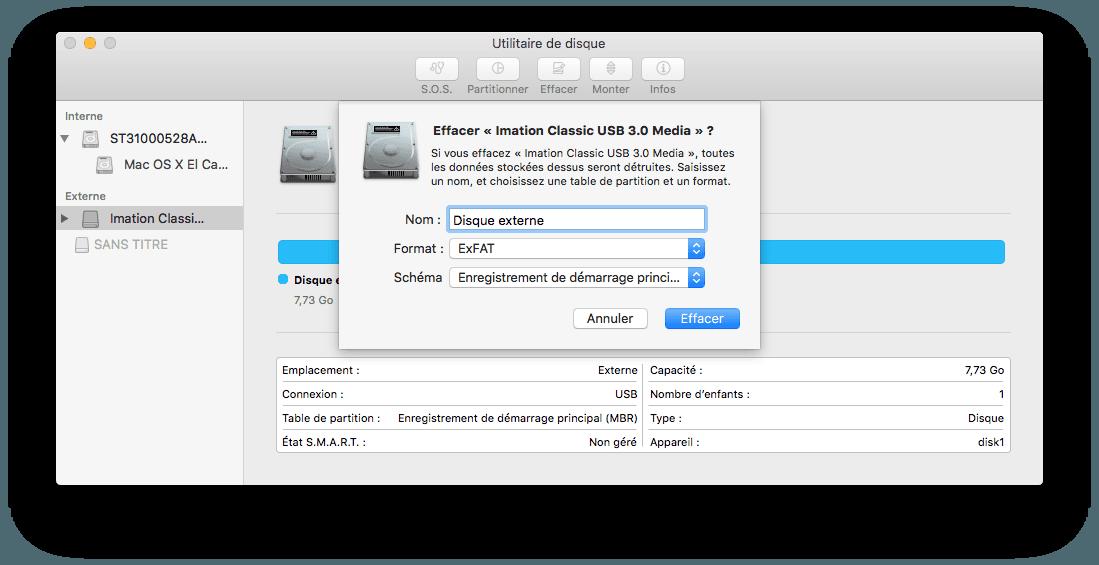 tutoriels  formater un disque externe mac