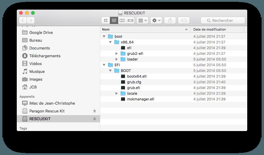 Mac ne demarre pas contenu de la cle