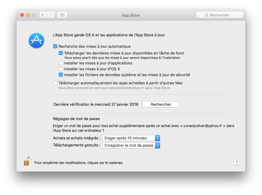 App Store sans mot de passe enregistrer mot de passe