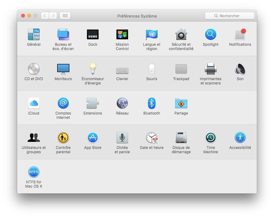 App Store sans mot de passe preferences systeme