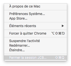 eteindre son mac fermer la session