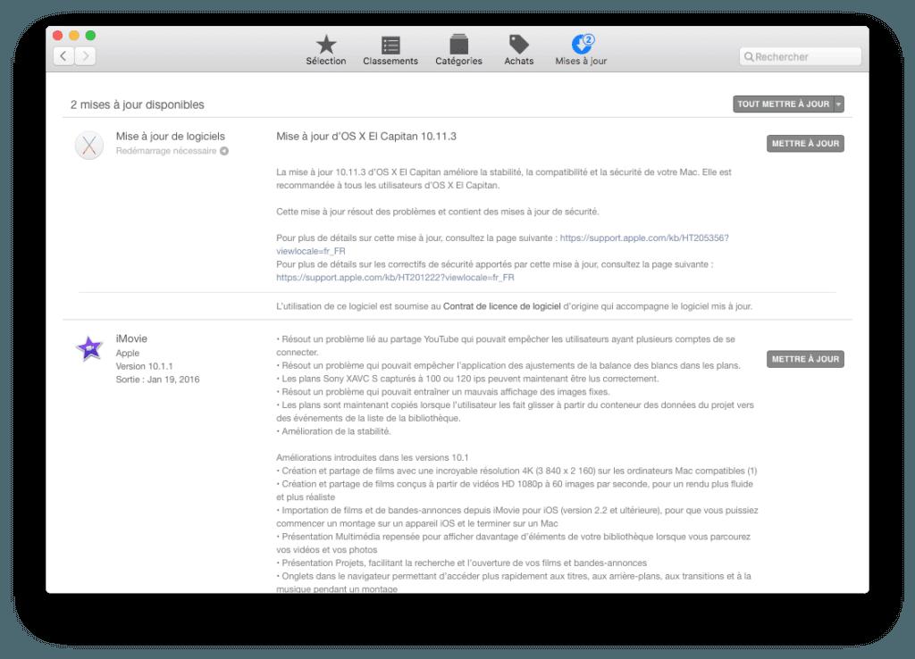 mac os x el capitan 10.11.3 app store