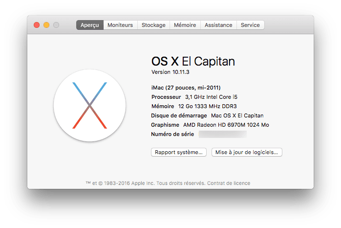 mac os x el capitan 10.11.3 tutoriel maj