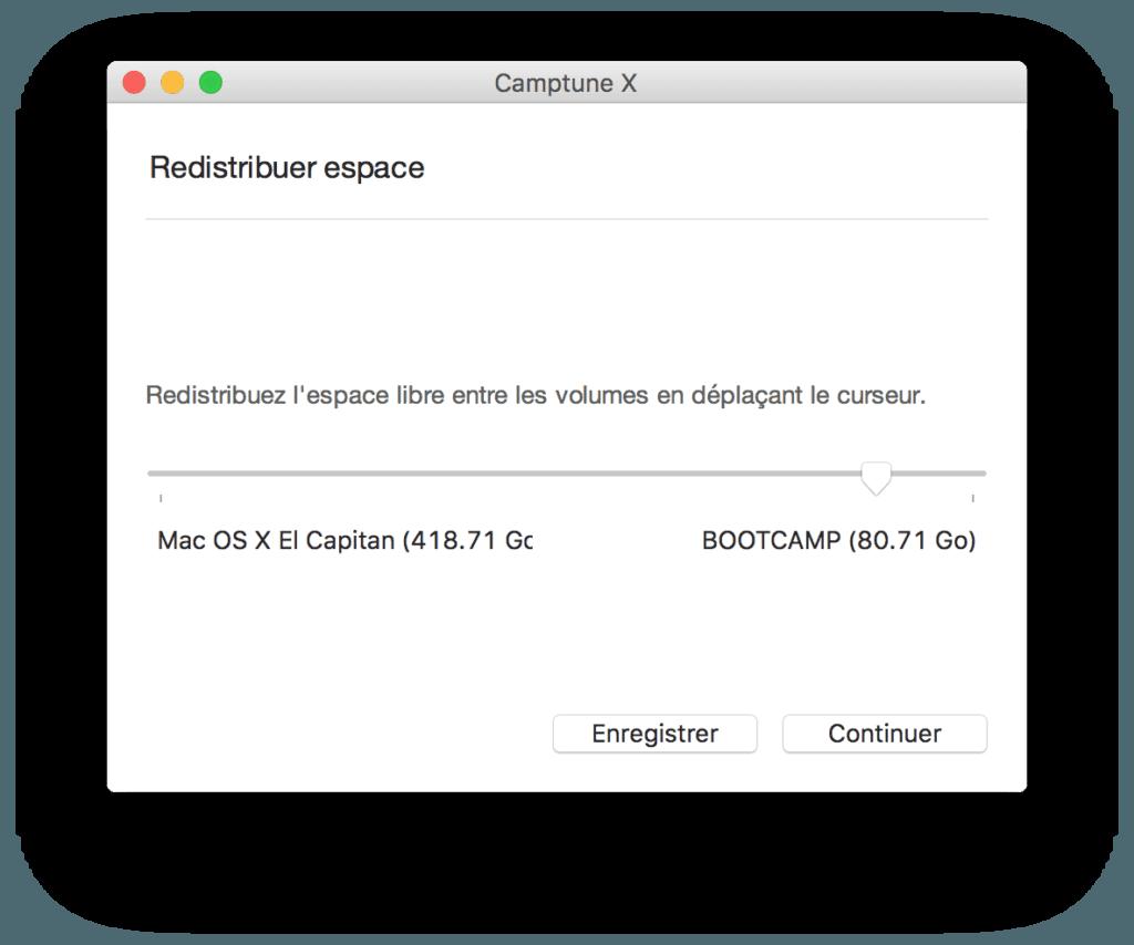 redimensionner une partition sur mac ou la taille du disque