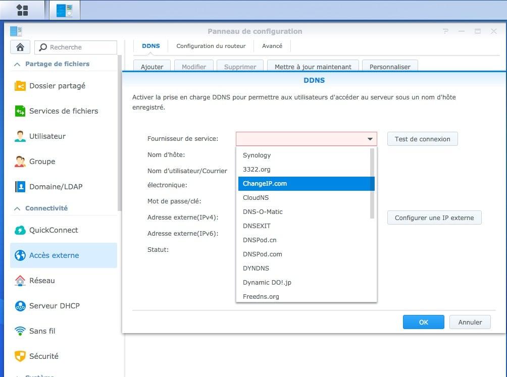 configurer diskstation mac ddns