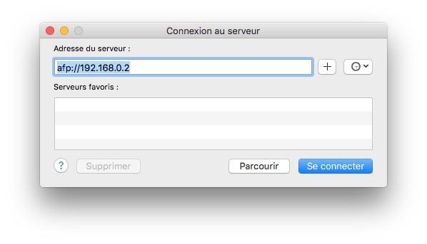 configurer diskstation mac se connecter au serveur