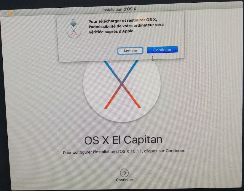 reinstaller mac os x telecharger