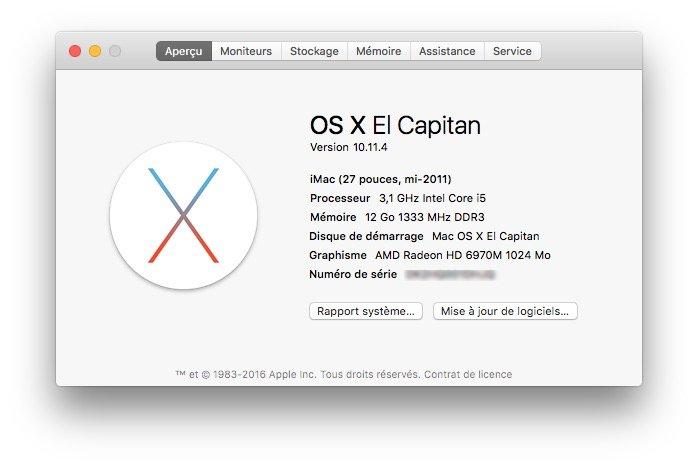 Mac OS X El Capitan 10.11.4 maj