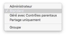 ajouter un compte utilisateur mac standard administrateur standard invite