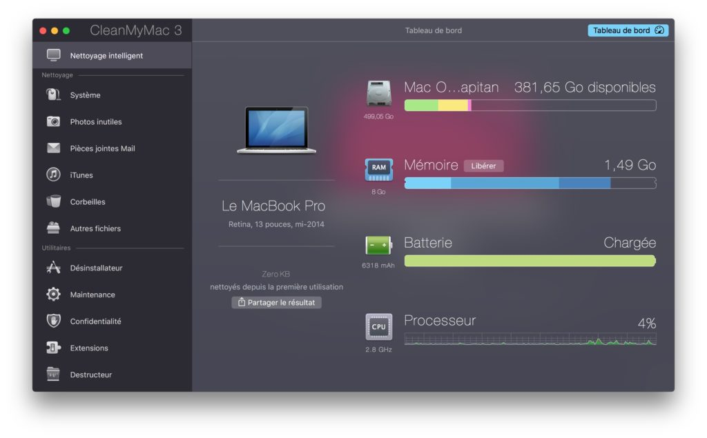nettoyer mac os x el capitan macbook pro