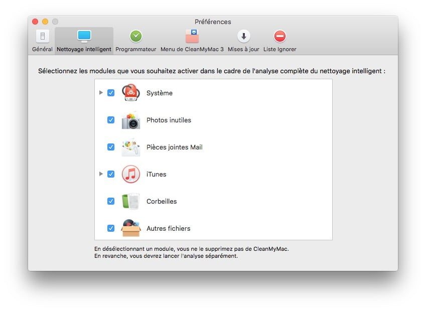 nettoyer mac os x el capitan preferences