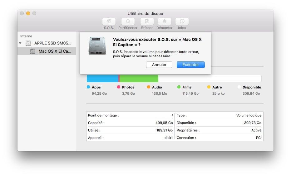 accelerer son mac utilitaire de disque