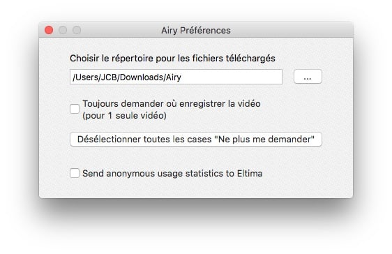 enregistrer youtube sur mac dossier telechargements