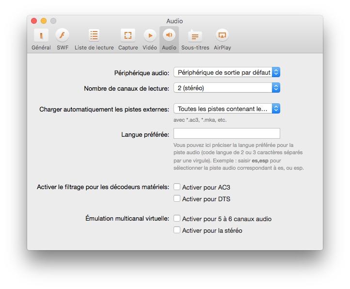 lecteur multimedia pour mac dts ac3