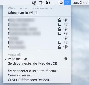 creer un reseau wifi sur mac en place