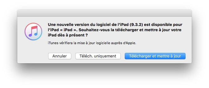 iOS 9.3.2 disponible