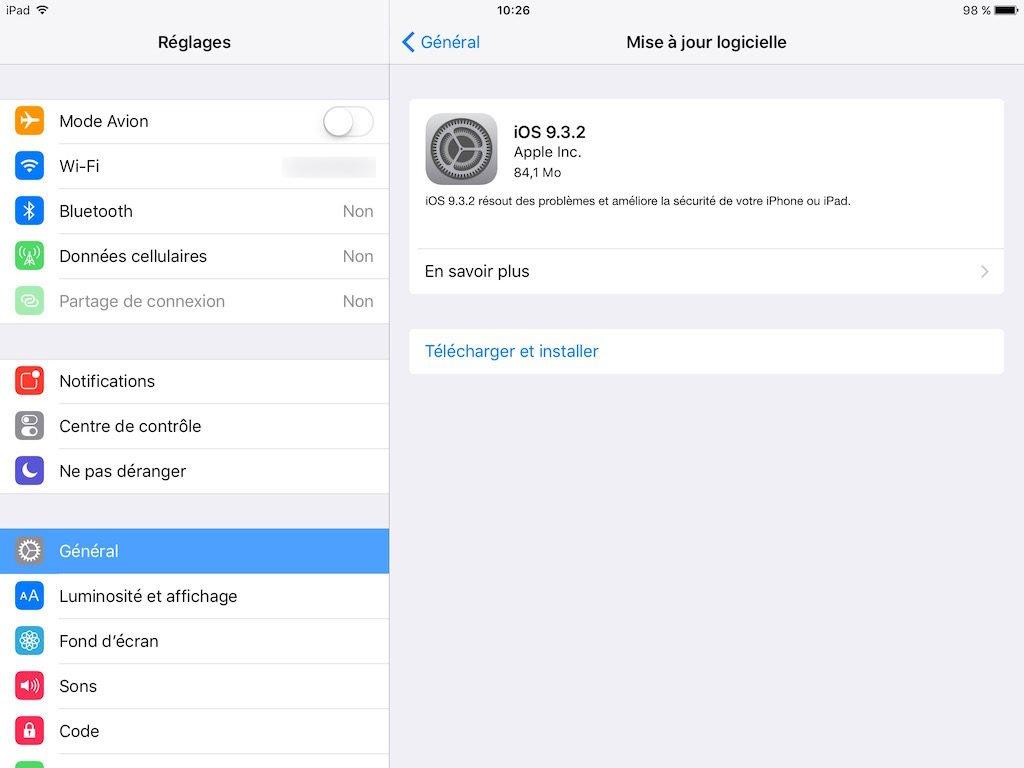 iOS 9.3.2 ipad iphone