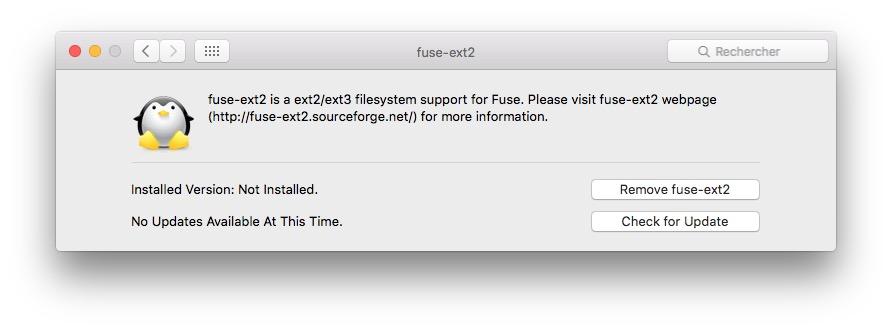 monter une partition Linux sur mac ext2 ext3