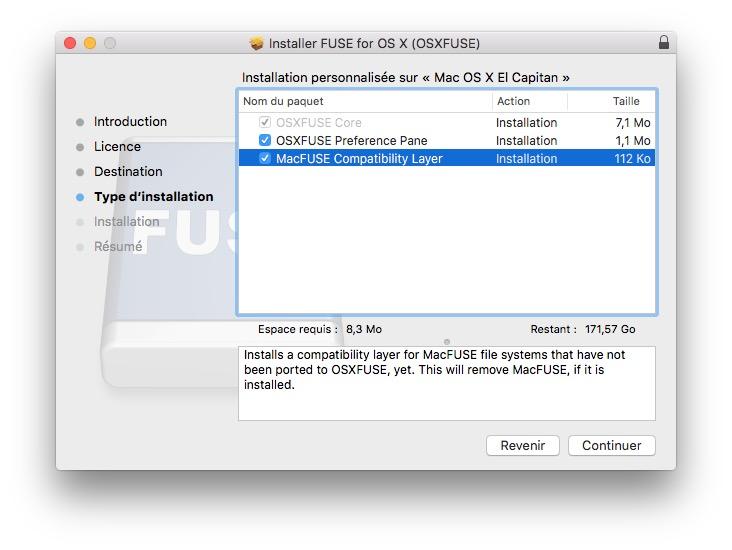 monter une partition Linux sur mac osxfuse