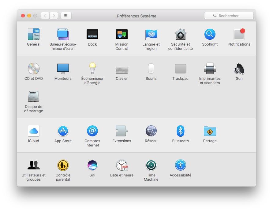 Siri MacOS Sierra preferences systeme