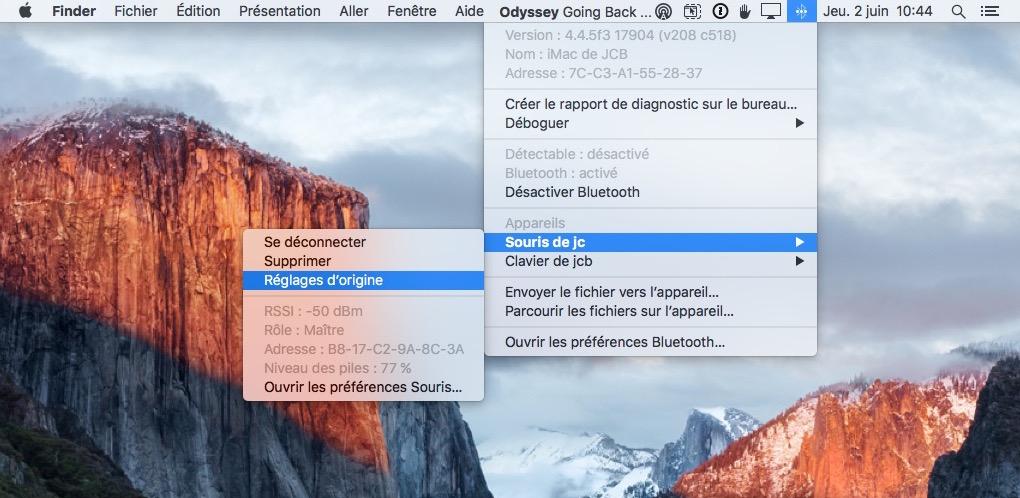 reparer le bluetooth sur mac reglage origine