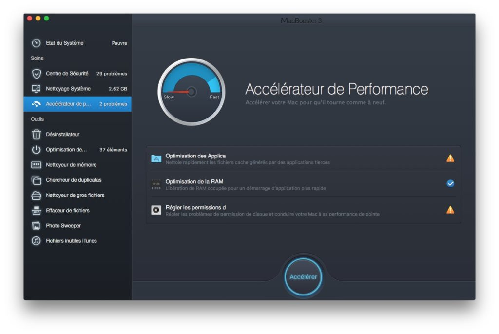Accelerer macOS Sierra booster mac performances