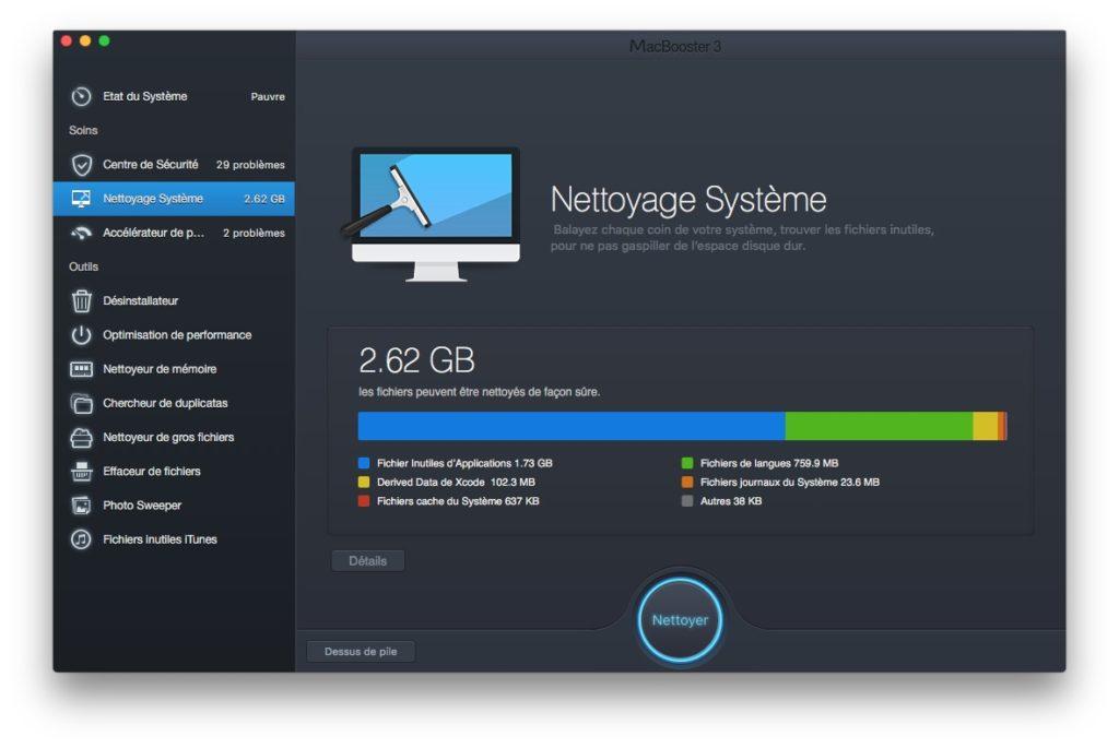 Accelerer macOS Sierra nettoyage systeme