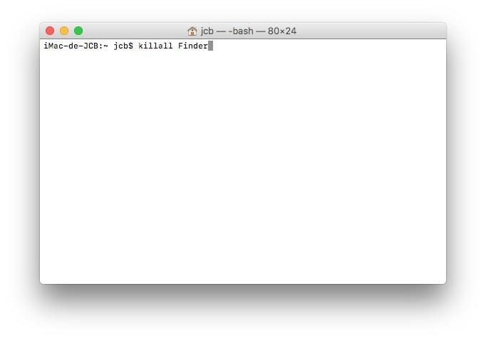 Afficher les fichiers caches macOS Sierra avec le terminal killall finder