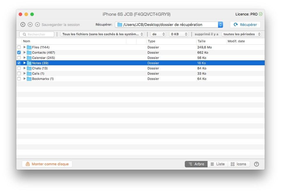 Recuperer des fichiers supprimes sous iphone