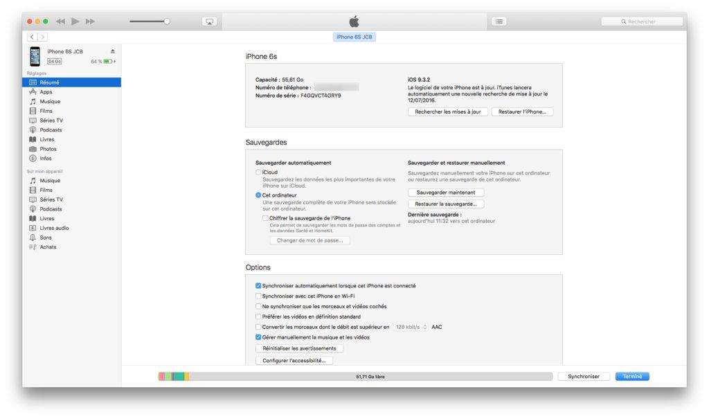 iOS 10 beta publique sauvegarde