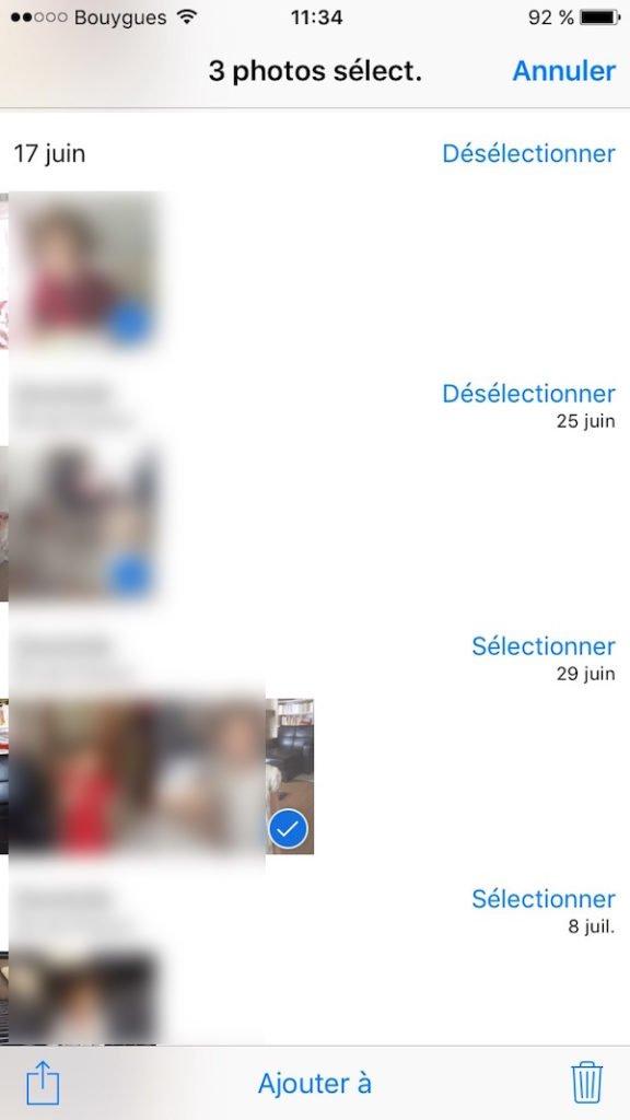 supprimer toutes les photos sur un iphone plusieurs