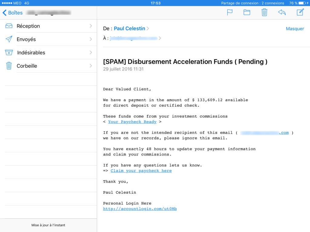 Gerer les spams sur iPhone avec Mail
