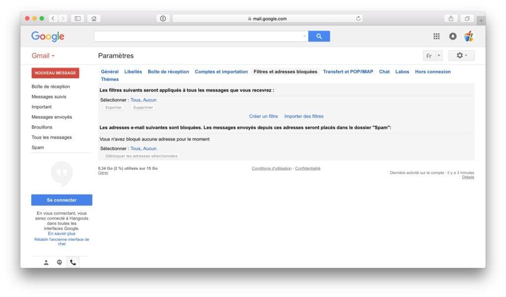 Gerer les spams sur iPhone gmail