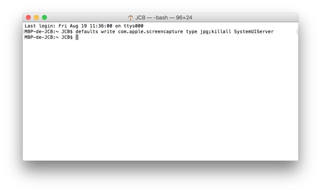 capture d'ecran sur Mac en jpg