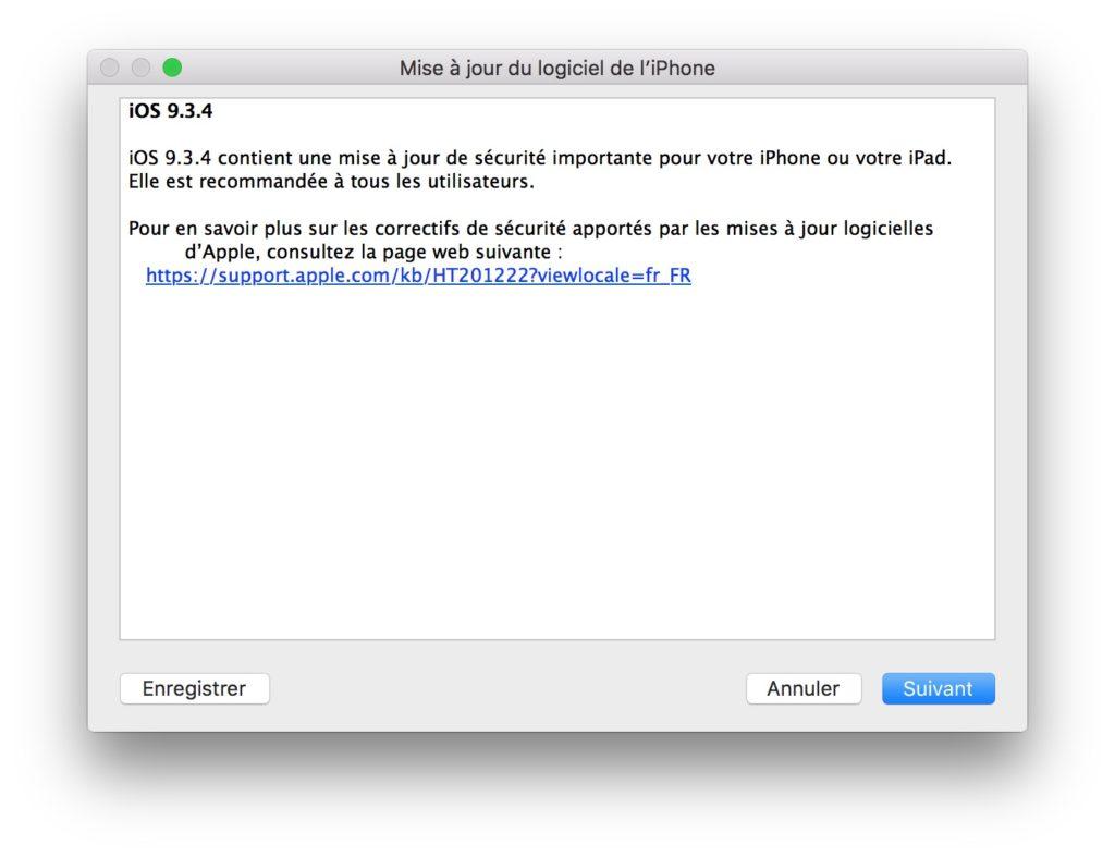 iOS 9.3.4 maj