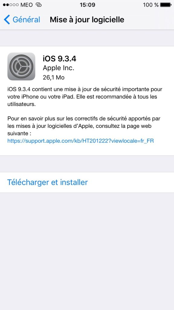 iOS 9.3.4 update iphone ipad