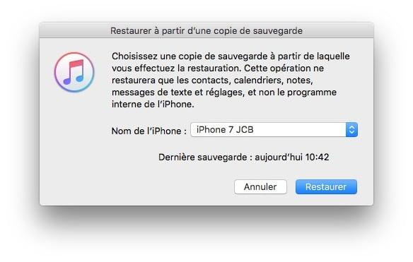 Copier ses donnees vers un nouvel iPhone 7
