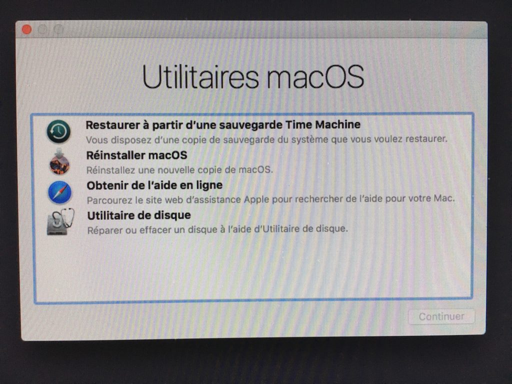 Reinstaller macOS Sierra mode recovery recuperation