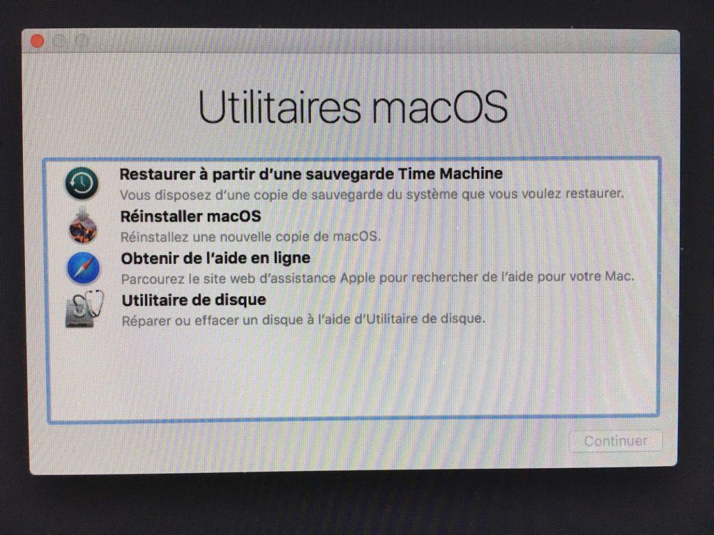 Reinstaller macOS Sierra mode recovery recuperation