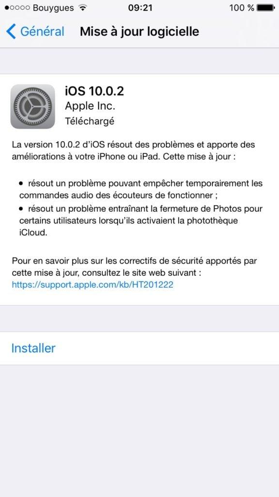 iOS 10.0.2 OTA